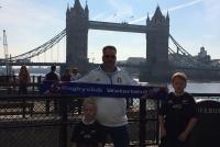 Voor de Tower Bridge tijdens de RWC - Met familie De Mooij (2015)