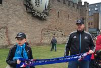 In Cardiff voor Cardiff Castle tijdens de RWC - Met Finn en Roland de Mooij (2015)