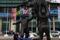 Voor het Twickenham stadion - Met Sem en Finn de Mooij (2015)
