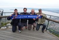Op de Tafelberg in Zuid Afrika - Met Zander, Arjan, Bart en Hans (2011)