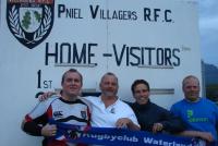 Bij Dennis clubs Villagers RFC in Zuid Afrika - Met Dennis, Hans, Arjan en Bart (2011)