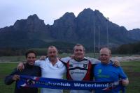 Bij Dennis clubs Villagers RFC in Zuid Afrika - Met Arjan, Hans, Dennis en Bart (2011)