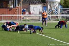 Training Mini's bij Rugby Club Waterland
